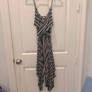 Alya Francesca's Black & White Stripe Maxi Dress